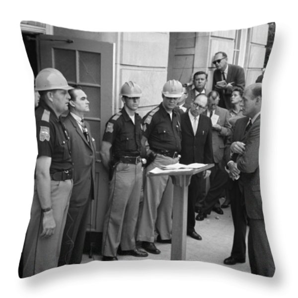 George C. Wallace Throw Pillow by Granger