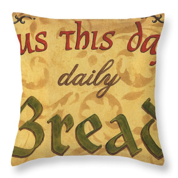 Give Us This Day Throw Pillow by Debbie DeWitt