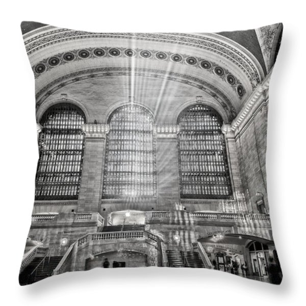 Grand Central Terminal Station Throw Pillow by Susan Candelario