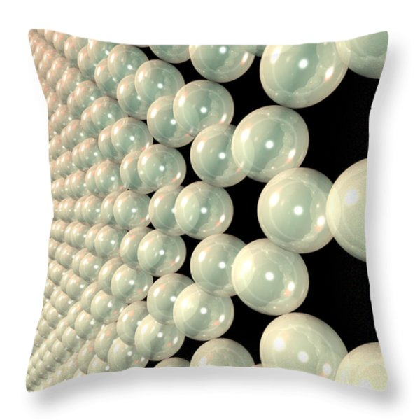 Graphene 6 Throw Pillow by Russell Kightley