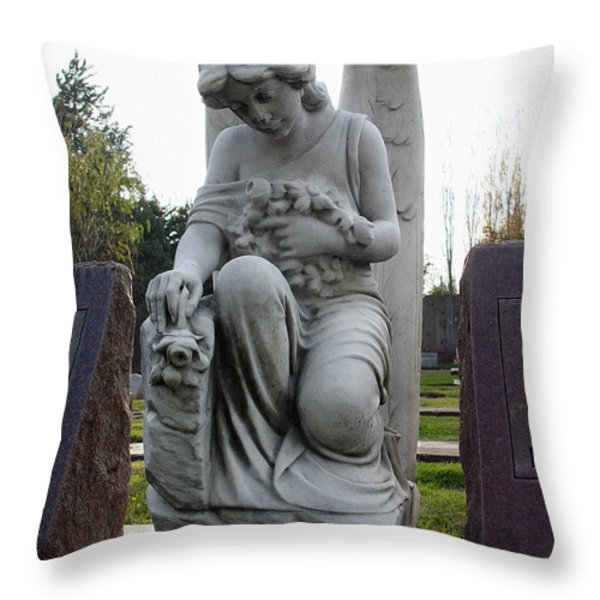 Guardian Of Souls Throw Pillow by Peter Piatt