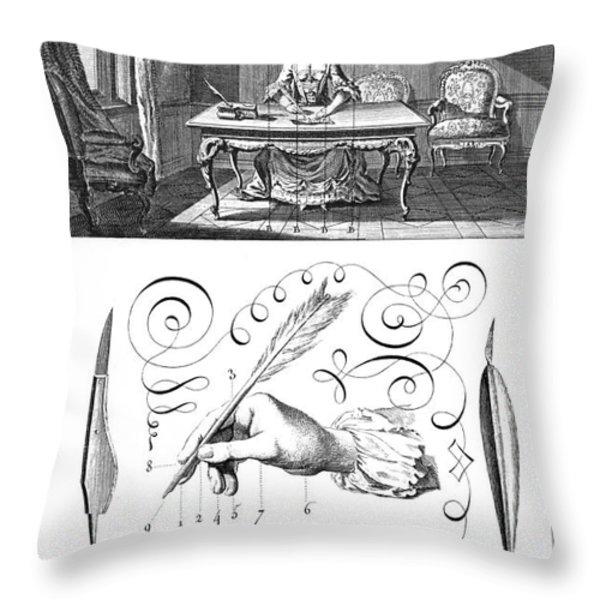 Handwriting, 18th Century Throw Pillow by Granger