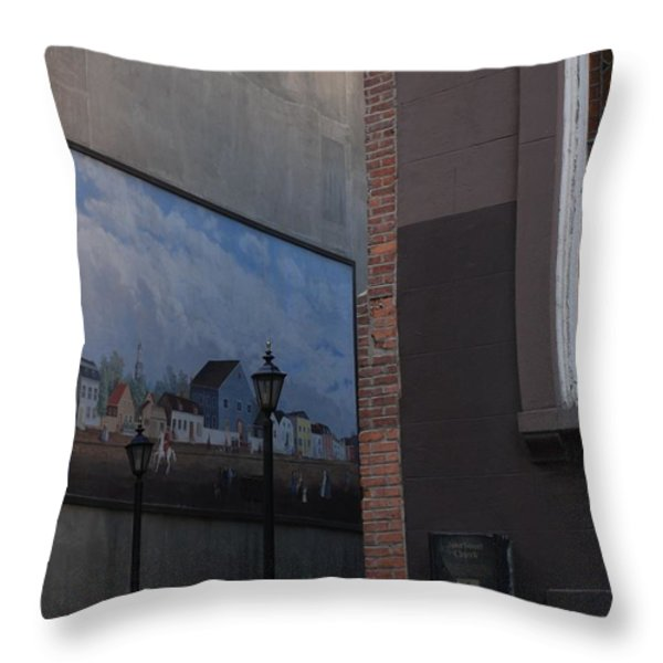 Hanging Art In N Y C Throw Pillow by Rob Hans