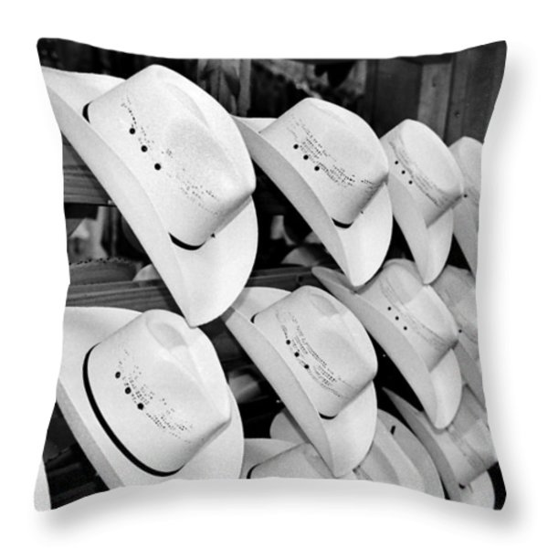 Hat And Boot Store Nashville Tn Throw Pillow by Joseph Mari