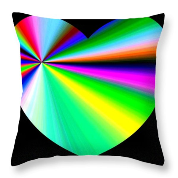 Heartline 3 Throw Pillow by Will Borden