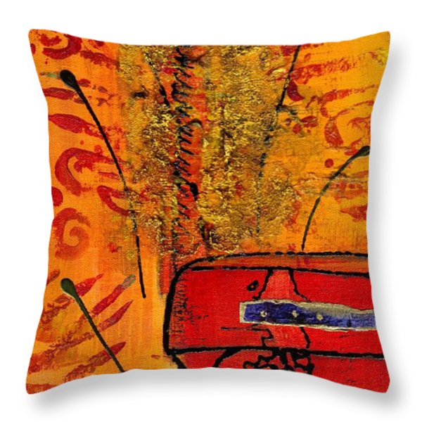 Her Vase Throw Pillow by Angela L Walker