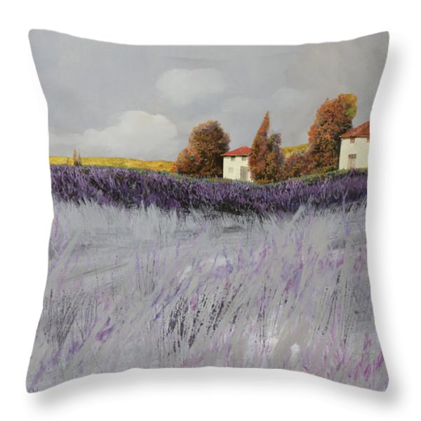 I Campi Di Lavanda Throw Pillow by Guido Borelli
