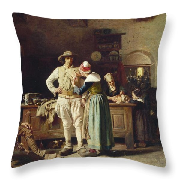 In Hoc Signo Vinces Throw Pillow by Thomas Hovenden