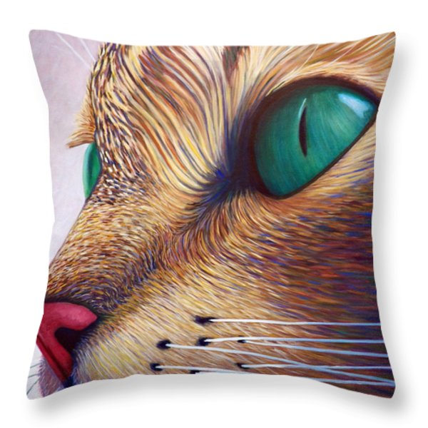 In The Moment Throw Pillow by Brian  Commerford