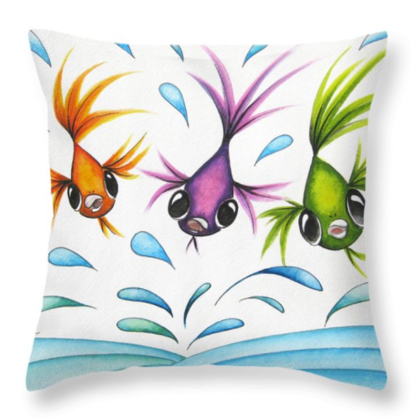 It's A Fun World Out There Throw Pillow by Oiyee At Oystudio