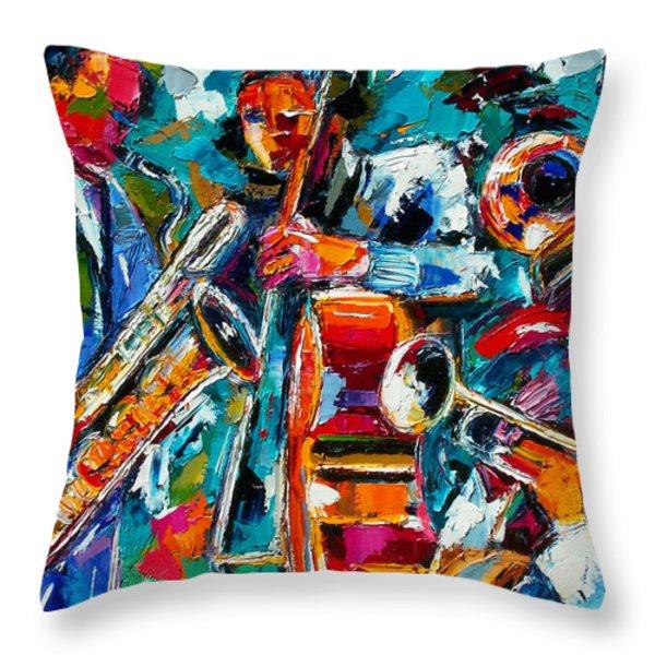 Jazz Magic Throw Pillow by Debra Hurd