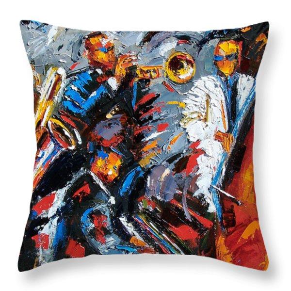 Jazz Unit Throw Pillow by Debra Hurd