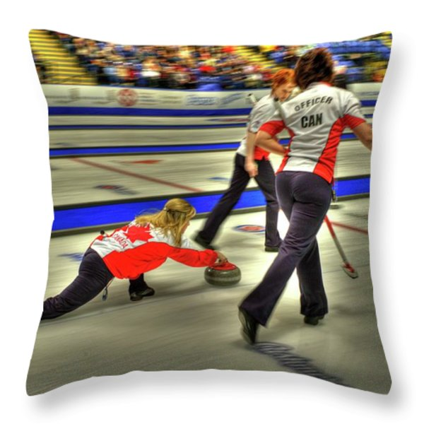 Jennifer Jones Throws Throw Pillow by Lawrence Christopher