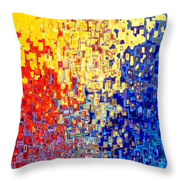 Jesus Christ The Light Of The World Throw Pillow by Mark Lawrence