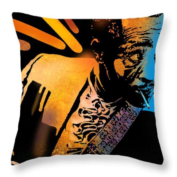 John Hooker Throw Pillow by Paul Sachtleben