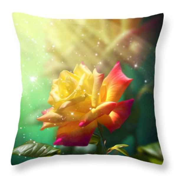Juicy Rose Throw Pillow by Svetlana Sewell