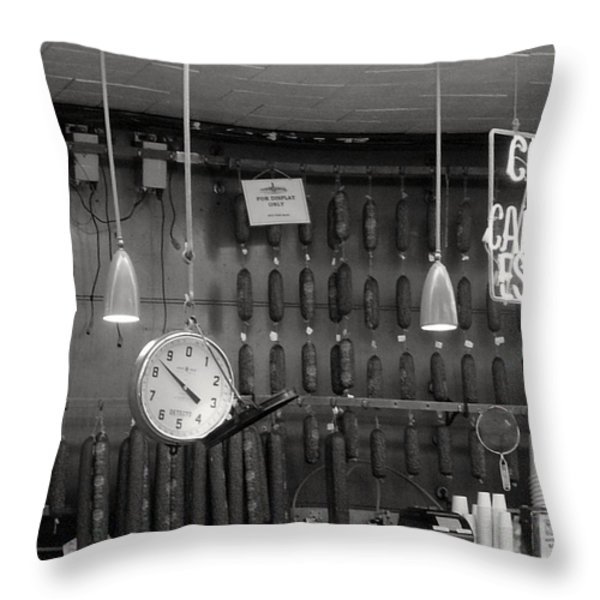 Katz Deli Throw Pillow by Debbi Granruth