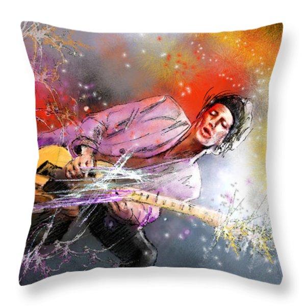 Keith Richards 02 Throw Pillow by Miki De Goodaboom