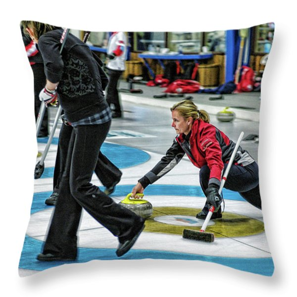 Kelly Law In The Hack Throw Pillow by Lawrence Christopher