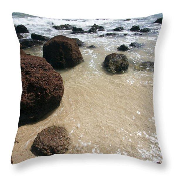 Koki Beach Hana Maui Hawaii 2 Throw Pillow by Dustin K Ryan
