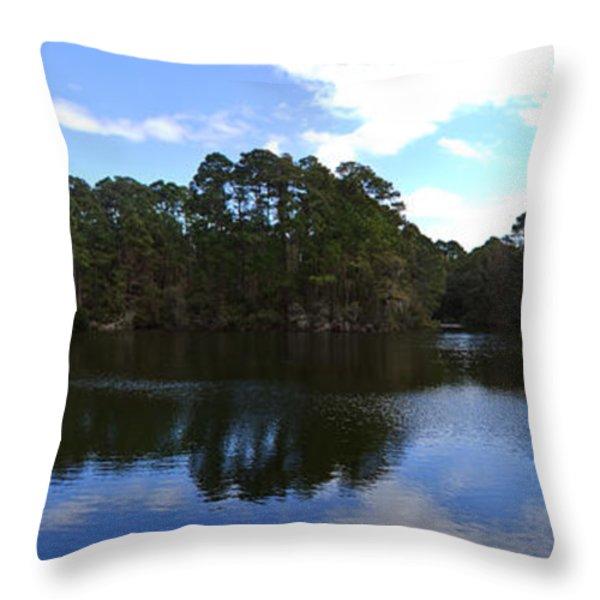 Lake Thomas Hilton Head Throw Pillow by Thomas Marchessault