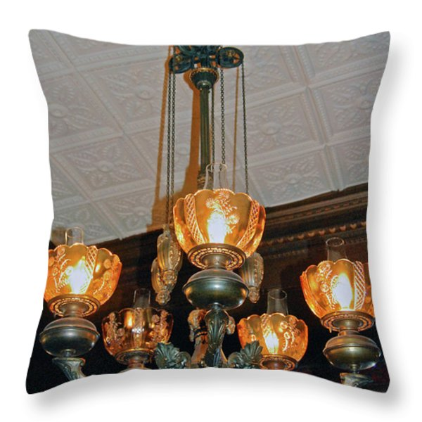 Lantern Chandelier Throw Pillow by DigiArt Diaries by Vicky B Fuller