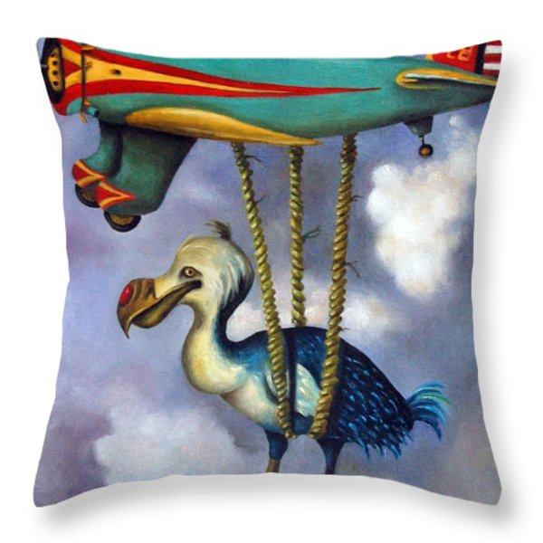 Lazy Bird Throw Pillow by Leah Saulnier The Painting Maniac