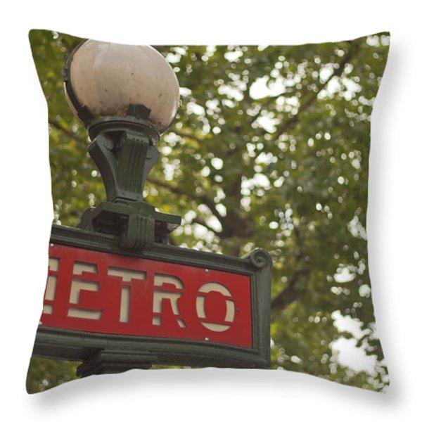 Le Metro Throw Pillow by Georgia Fowler
