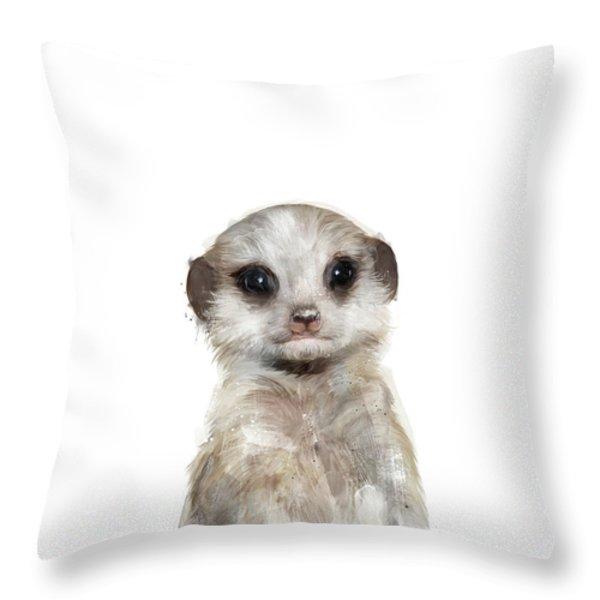 Meerkat Throw Pillows Fine Art America