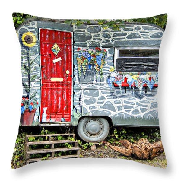 Living In Art Throw Pillow by Meirion Matthias
