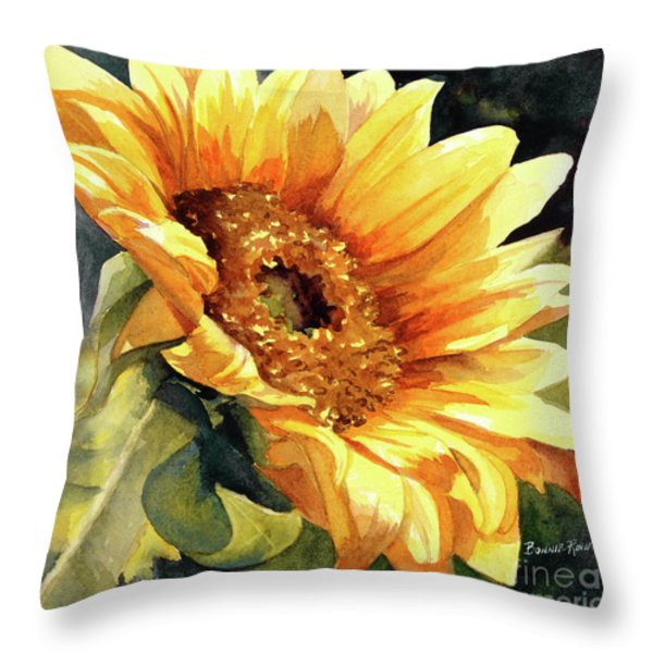 Looking To The Sun Throw Pillow by Bonnie Rinier