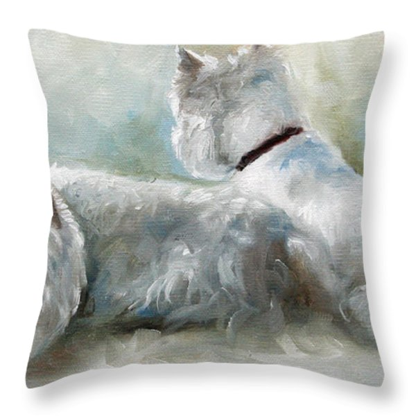 Lounge Throw Pillow by Mary Sparrow
