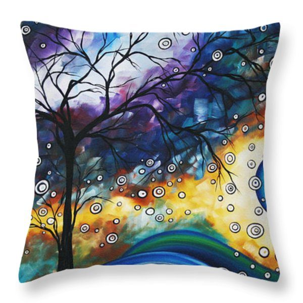 Love and Laughter by MADART Throw Pillow by Megan Duncanson