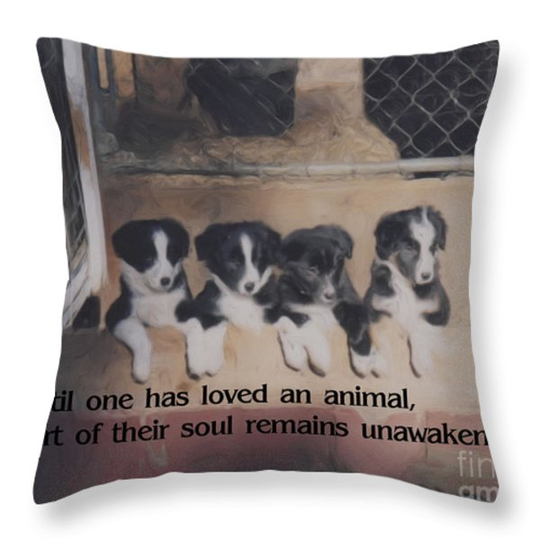Love For Animals Throw Pillow by Smilin Eyes  Treasures