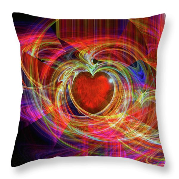 Love's Joy Throw Pillow by Michael Durst