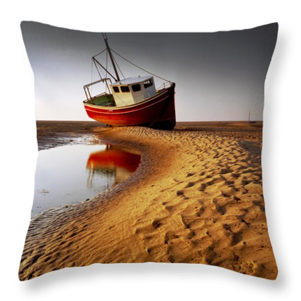 Low Tide Throw Pillow by Peter OReilly