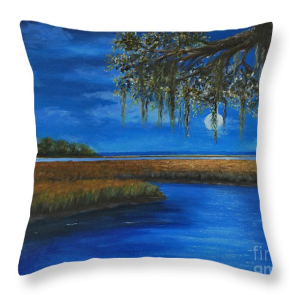 Lowcountry Moon Throw Pillow by Stanton Allaben