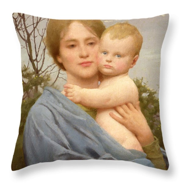 Madonna Of The Mount  Throw Pillow by Thomas Cooper Gotch