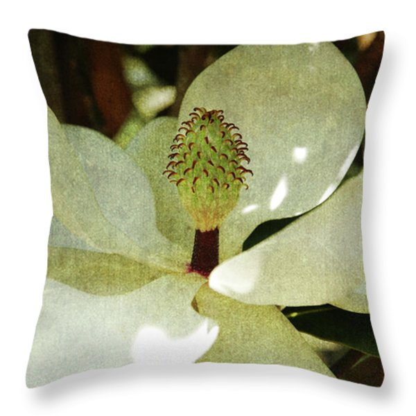 Magnolia Grande Throw Pillow by Susanne Van Hulst