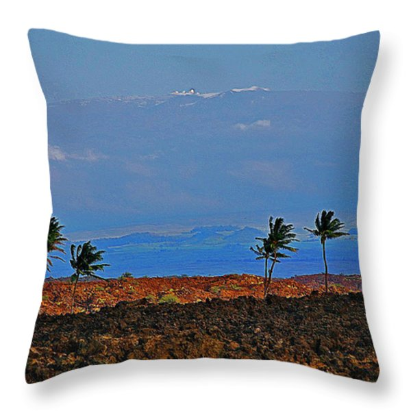 Majestic Mauna Kea Throw Pillow by Bette Phelan