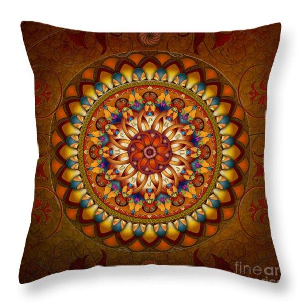 Mandala Ararat Throw Pillow by Bedros Awak