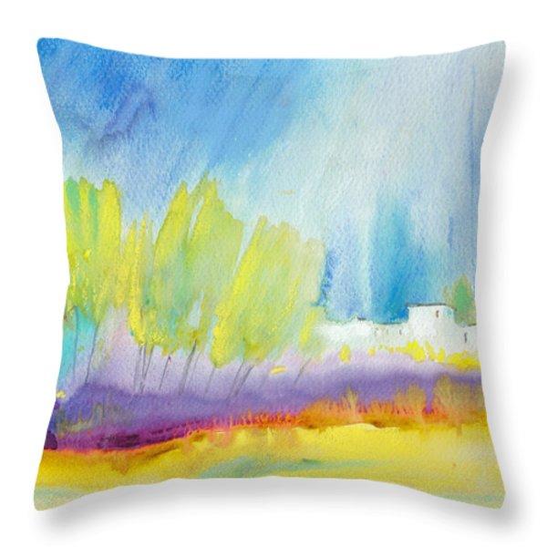 Midday 08 Throw Pillow by Miki De Goodaboom