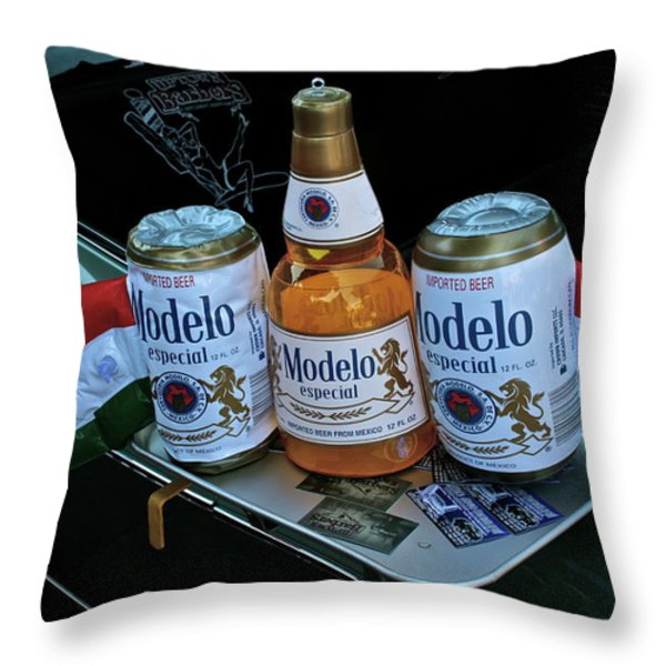 Modelo Curbside Throw Pillow by Gwyn Newcombe