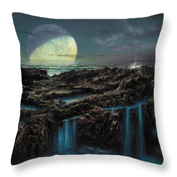 Moonrise 4 Billion Bce Throw Pillow by Don Dixon