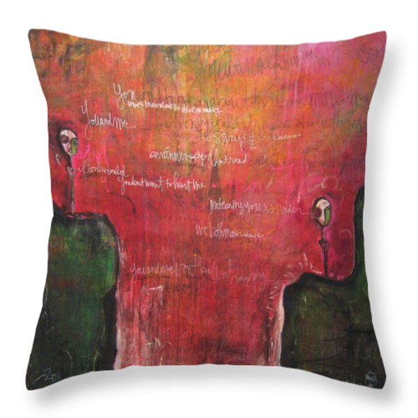 My Hill Painting Throw Pillow by Laurie Maves Guglielmi