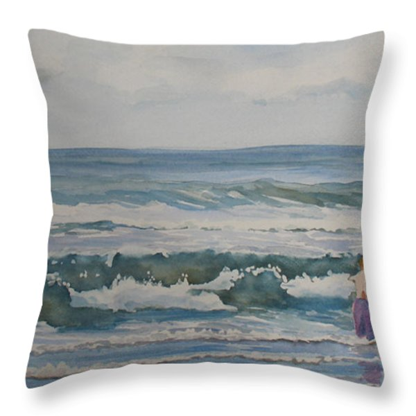My Kind Of Beach Boys Throw Pillow by Jenny Armitage