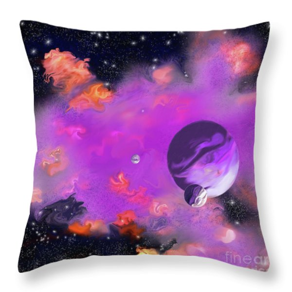 My Space Throw Pillow by Methune Hively