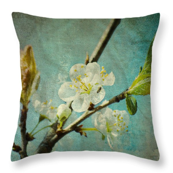My Springtime Throw Pillow by Angela Doelling AD DESIGN Photo and PhotoArt