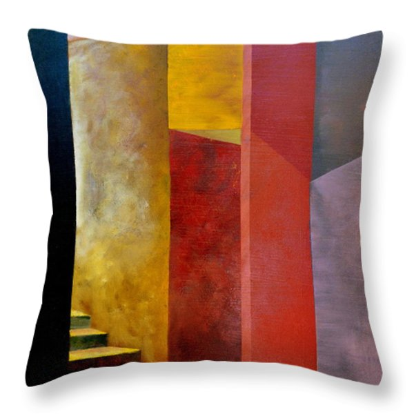 Mystery Stairway Throw Pillow by Michelle Calkins