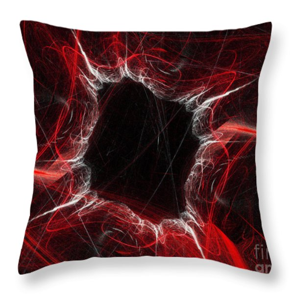 Mystry Through The Black Hole Throw Pillow by Andee Design
